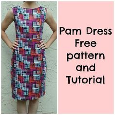 This is the Pam dress. 50′s inspired with a modern look. The fitted shape together with the midi length of the skirt will flatter every wome...