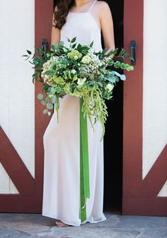 Throwing Shade Colorful Bouquets - Shades of Green   Floral: Florish Floral Design Studio   Dress: Bella Bridesmaids   Photography: Tracy Autem & Lightly Photography   Hair + Makeup: Grand Slam Glam #bridesofnorthtx #wedding #bouquet