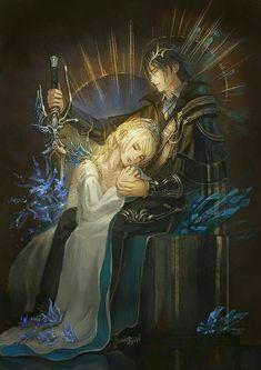 Noctis and Lunafreya.