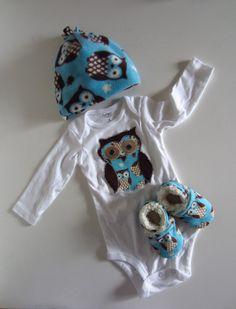 Adorable Owl Winter Baby Gift Set.
