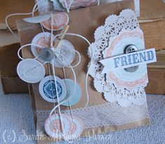 Sarah Martina Parker for Wplus9 featuring Lacey Layers stamps and dies.