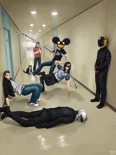 Zedd, Skrillex, Deadmau5, and Daft Punk are my favorite electronic/dubstep artists that drop the bass like a hot potato.