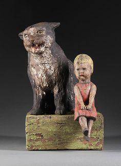 """Guardian 4"", 2010, artist Margaret Keelan  14"" x 8""   Clay, stains"