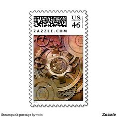 Steampunk postage