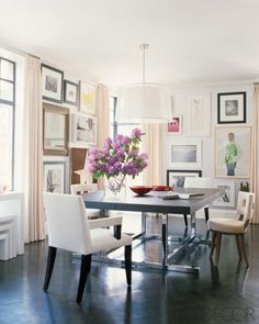 Art Wall Dining Room Elle Decor