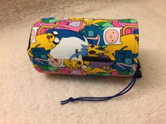 Adventure time chalk bag, rock climbing bag, gymnastics bag, character drawstring bag by Chalkbums on Etsy