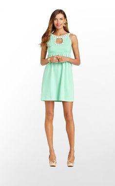 Grace Dress #LillyPulitzer pretty mint green bridesmaid dress, wish they had a long dress!