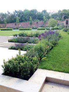 Amy Perkins Garden Design – Project: Country Estate – Hampshire Limestone paving… - All For Garden Contemporary Garden Design, Modern Landscape Design, Garden Landscape Design, Modern Landscaping, Backyard Landscaping, Landscape Architecture, Architecture Design, Limestone Paving, Tiered Garden