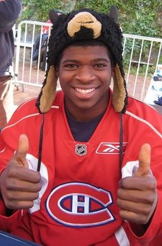 Subban great hockey player - defenceman for The Montreal Canadiens. Hockey Teams, Hockey Players, Tennis Players, Montreal Canadiens, Montreal Hockey, Hockey Pictures, The Sporting Life, National Hockey League, Toronto Maple Leafs