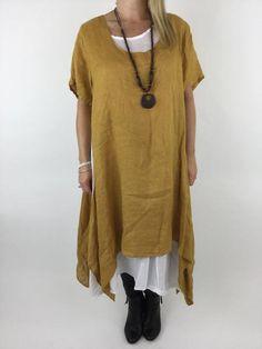 Lagenlook Clothing UK Plus Size Linens Ladies plus size linen tunics