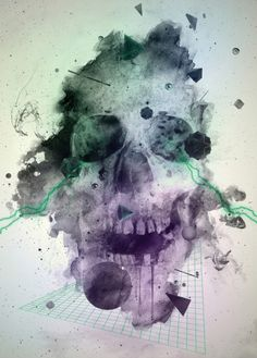 Supernaturalism is a poster by Pablo Alfieri, more skull art posters and… Graphic Design Illustration, Graphic Art, Skull Illustration, Skull Artwork, Skull Wallpaper, Unique Trees, Skulls And Roses, Anatomy Art, Skull Design