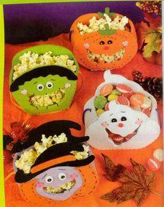 Bolsa.dulces halloween Dulceros Halloween, Moldes Halloween, Adornos Halloween, Halloween Sewing, Halloween Favors, Halloween Trick Or Treat, Halloween Treats, Halloween Pumpkins, Halloween Decorations
