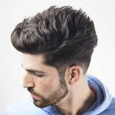 Thick Textured Quiff + Low Taper Fade