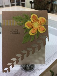 Sneak Peek! - Stampin' Up Botanical Blooms stamp set - Stampin' Up Botanical Builder Framelits