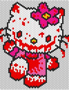 Kandi Patterns for Kandi Cuffs - Characters Pony Bead Patterns Pony Bead Patterns, Kandi Patterns, Perler Patterns, Peyote Patterns, Beading Patterns, Cross Stitch Designs, Cross Stitch Patterns, Pixel Art, Perler Bead Mario