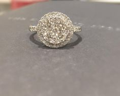 1.00CT of round cut glistening diamonds - Say I do with The Diamond Store. #thediamondstoreuk #diamonds #sparkle #pretty #diamonds #ring #love