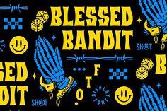 Blessed Bandit Font Masculine Font, Moving To San Diego, All Caps Font, Fancy Fonts, Web Design Tutorials, Vintage Fonts, Modern Fonts, Tool Design, Typography Design