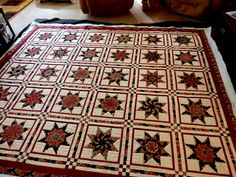 Love this Stack and Whack quilt.  I don't believe I've ever seen star pattern in the Stack and Whack before.