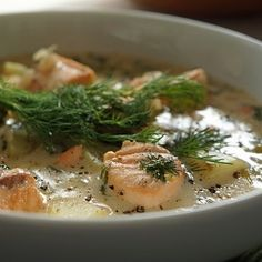 Lohikeitto (salmon soup). | 42 Traditional Finnish Foods That You Desperately Need In Your Life