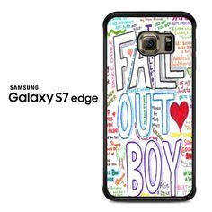 Fall Out Boy Art A Samsung Galaxy S7 Edge Case