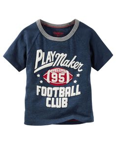 Toddler Boy Raglan Football Tee from OshKosh B'gosh. Shop clothing & accessories from a trusted name in kids, toddlers, and baby clothes.