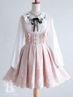 Lolita Outfit Idea - Just Crumbs Cakes Harajuku Fashion, Kawaii Fashion, Cute Fashion, Rock Fashion, Fashion Styles, Fashion Boots, Kawaii Dress, Kawaii Clothes, Pink Clothes