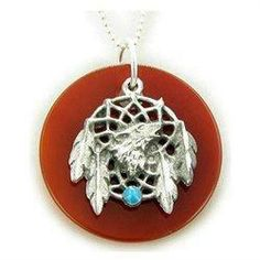 Amulet Carnelian Wolf Dream...
