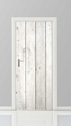 Cool, simple and low budget idea for your door. Deursticker - 18820120 Staand posterwand.nl