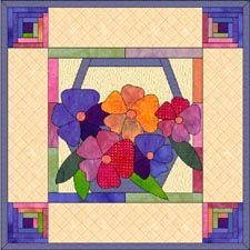 Bring springtime in your home with this Spring quilt wall hanging pattern. Paper pieced and applique. http://quiltwoman.com/Springtime-Quilt-Pattern.aspx