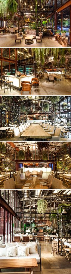New Plants Indoor Restaurant Spaces Ideas # Ideas # Indoor # Plants . New Plants Indoo Coffee Shop Design, Cafe Design, House Design, Bistro Design, Brewery Design, Design Design, Design Ideas, Backyard Garden Landscape, Small Backyard Gardens
