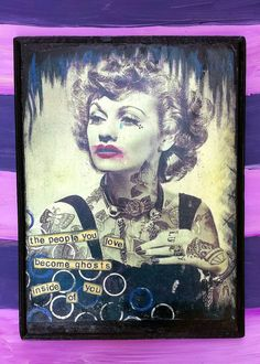 Lucille Ball Wood Plaque Wall Decor by MysteriumStore on Etsy