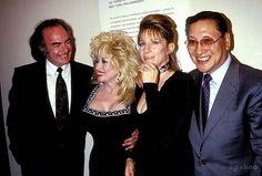 Neil Diamond with Dolly Parton and Barbra Streisand