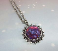 Mexican Fire Opal Necklace Pendant Dragons Breath Necklace
