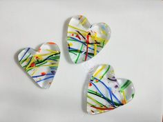 Heart with Waves Fused Glass Ornament
