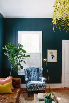 dark painted room
