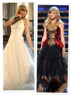 Taylor Swift - AMAs 2012 performance. The outfit change! :) <3 :) <3