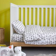 Grey Elephant Duvet Set, Cot Bed