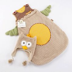 owl snuggle sack with wings