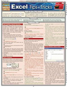 Excel Tips & Tricks Laminated Reference Guide