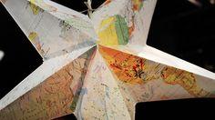 Lys upp mörkret med en pappstjärna gjord av gamla kartor. Go'kvälls återbruksexpert Marie Teike visar hur du gör.