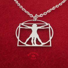 FREE SHIPPING  Vitruvian Man necklace pendant от BorowskiStore