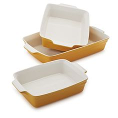 Sur La Table Stoneware Bakers Y093SR  Set of 3 Honey >>> Be sure to check out this awesome product.(This is an Amazon affiliate link and I receive a commission for the sales) Casserole To Freeze, Chicken Casserole, Casserole Recipes, Freezer Meals, No Cook Meals, Roasted Veggies In Oven, Hamburger Meat Casseroles, Fruit Cobbler, Oven Roast