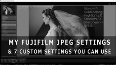 My Fujifilm JPEG Settings & 7 Custom Settings you can use yourself. In this video, I go through in detail the seven custom settings I have in all my Fujifilm. Fujifilm, Photography Tips, Photo Ideas, Take That, Breakfast, Youtube, Instagram, Shots Ideas, Morning Coffee