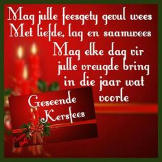 Christmas Verses, Merry Christmas Gif, Christmas Greetings, All Things Christmas, Christmas Decor, Christmas Wishes Messages, Xmas Wishes, Birthday Wishes, Afrikaanse Quotes