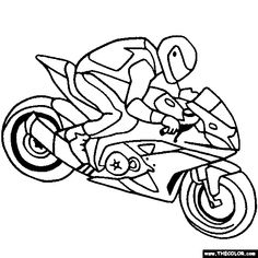sportbike coloring pages | Ducati Sportbike Motorcycle Online Coloring Page | Bike ...