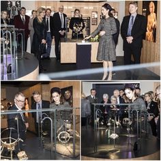 """Crown Princess Mary of Denmark opened the exhibition """"The Jewellery Box"""" at the Old Town Museum (Den Gamle By) in Aarhus. The Jewellery Box - Danish Jewellery of the Twentieth Century is an exhibition with about 1000 danish jewelries of silver and some of gold from 1900-2000."""