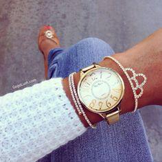 Bracelet and watch from www.gogolush.com
