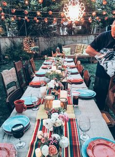 "I LOVE this table scape!  From the TV show ""Parenthood""!  I want to do this during Summer!"