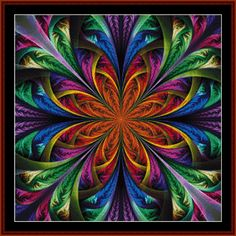 FR-483 - Fractal 483 - All cross stitch patterns - Abstract - Fractals - - Cross Stitch Collectibles