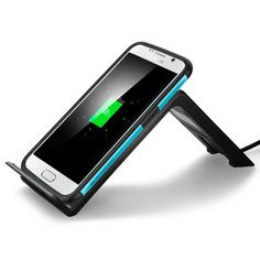 Wirelessly charge your device with the versatile F300W wireless charging dock. An LED light indicates when the charger is operating for at-a-glance convenience. Its stand design and free positioning technology liberates the device from wires and restricted placements, allowing you to prop and charge in a vertical or horizontal position for whatever floats your boat.  Shop Now: http://www.spigen.com/products/f300w-wireless-charging-pad